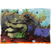 Minecraft Blanket World Funny Minecraft Fleece Soft Blanket MC904