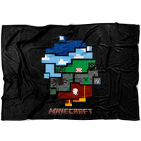 Minecraft Blanket World Minecraft Fleece Soft Blanket MC897