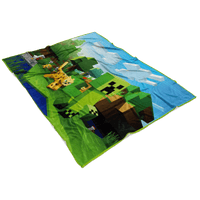 Minecraft Creeper Fleece Blanket  3D Lightweight  Supremely Soft & Cozy Fleece Lightweight Casual - Lusy Store