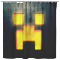 Minecraft Curtain Creeper Minecraft Shower Curtain For Bathroom Decor MC896