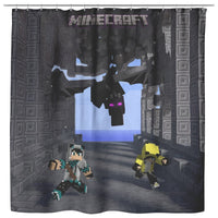 Minecraft Curtain Ender Dragon Shower Curtain For Bathroom Decor MC893