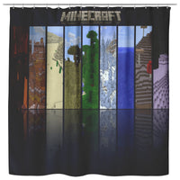 Minecraft Curtain Far Land Minecraft Shower Curtain For Bathroom Decor MC906