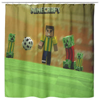 Minecraft Curtain Football Minecraft Shower Curtain For Bathroom Decor MC903