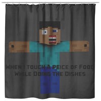 Minecraft Curtain Funny Minecraft Shower Curtain For Bathroom Decor MC898