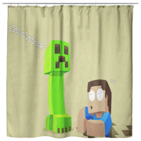 Minecraft Curtain Funny Minecraft Shower Curtain For Bathroom Decor MC899