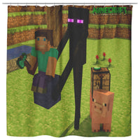 Minecraft Curtain Funny Minecraft Shower Curtain For Bathroom Decor MC901