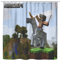 Minecraft Curtain Horse Minecraft Shower Curtain For Bathroom Decor MC900