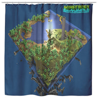 Minecraft Curtain Minecraft Adventure Maps Shower Curtain For Bathroom Decor MC894