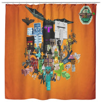 Minecraft Curtain Minecraft Party Shower Curtain For Bathroom Decor MC892