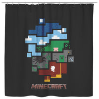 Minecraft Curtain World Minecraft Shower Curtain For Bathroom Decor MC897