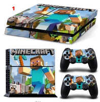 Minecraft Designer Game Vinyl Decal Skin Sticker for Xbox one and PS4 PRO Console + 2 Controllers Skins + LED Lightbar Sticker