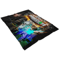 Minecraft Fleece Blanket Abstract Colorful Blanket - Lusy Store