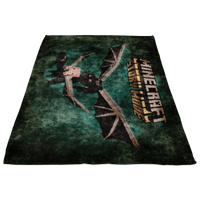 Minecraft Fleece Blanket Ender Dragon Oil Painting Black Blanket - Lusy Store