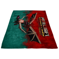 Minecraft Fleece Blanket Ender Dragon Red Blanket LS0798 - Lusy Store