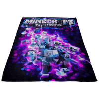 Minecraft Fleece Blanket Energy Purple Blanket - Lusy Store