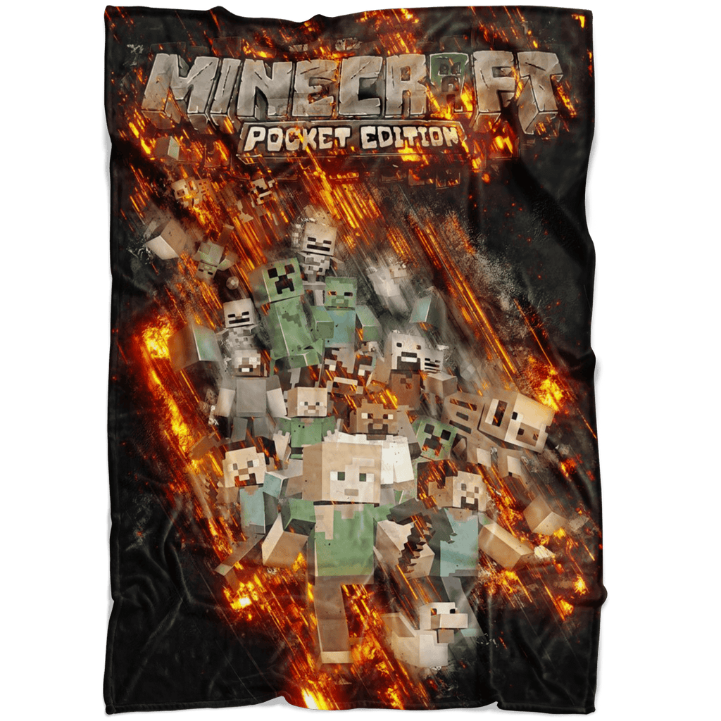 Minecraft Fleece Blanket Fury Black Blanket - Lusy Store
