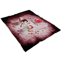 Minecraft Fleece Blanket Minecraft Love Pink Blanket LS0780 - Lusy Store