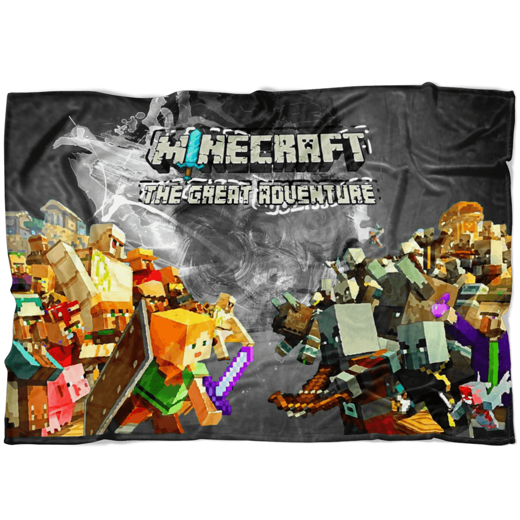 Minecraft Fleece Blanket Minecraft War Color Splash Black Blanket - Lusy Store