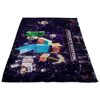 Minecraft Fleece Blanket Plexus Purple Blanket - Lusy Store