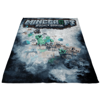Minecraft Fleece Blanket Rime Black Blanket - Lusy Store