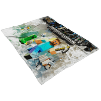 Minecraft Fleece Blanket Smudge Art White Blanket - Lusy Store
