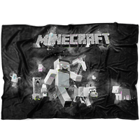 Minecraft Fleece Blanket Steve Abstract Black Blanket - Lusy Store