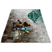 Minecraft Fleece Blanket Steve Diamond Sword Cortisol Grey Blanket - Lusy Store