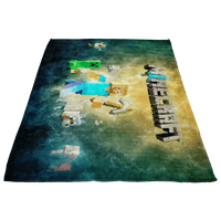 Minecraft Fleece Blanket Steve Fervent Colorful Blanket LS0741 - Lusy Store