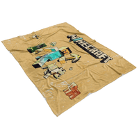 Minecraft Fleece Blanket Steve Fervent Yellow Blanket LS0748 - Lusy Store