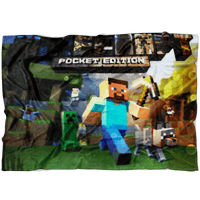 Minecraft Fleece Blanket Wet Glass Colorful Blanket - Lusy Store