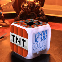 Minecraft Lamp Touch light Minecraft Alarm Clock with LED