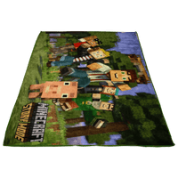 Minecraft Ray Tracing Story Mode Large Fleece Blanket 3D Unique - Lusy Store