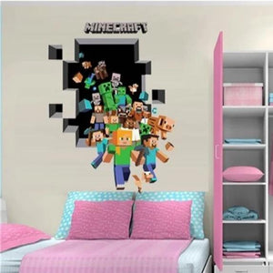 Minecraft Wall Stickers For Kids Room Decal Home 3D - Lusy Store