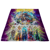 Harry Potter Fleece Blanket Abstract Purple Blanket