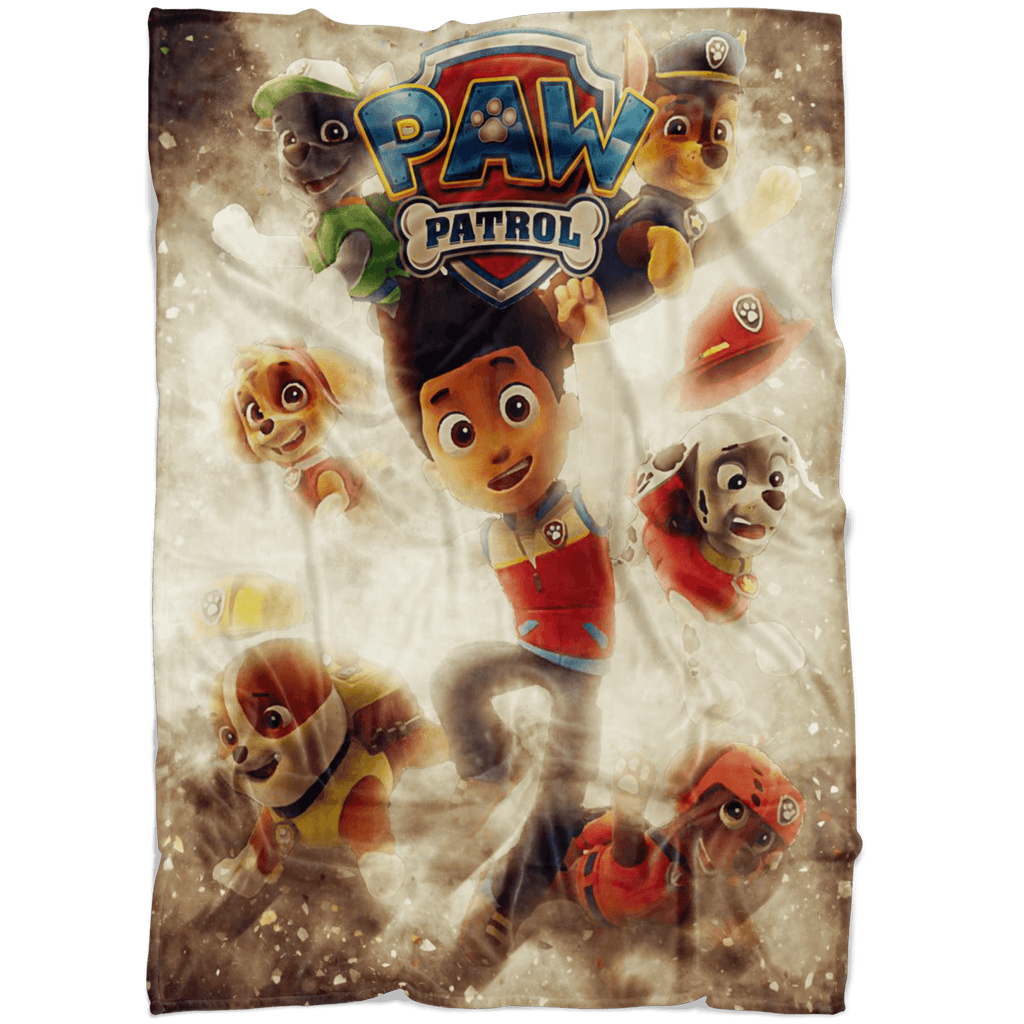 Paw Patrol Fleece Blanket Destruction Yellow Blanket - Lusy Store