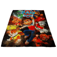 Paw Patrol Fleece Blanket Watercolor Black Blanket - Lusy Store