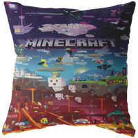 Minecraft pillow minecraft world funny
