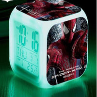 Spiderman Alarm Clock For Kids Changing Spider Man 7 Colors LED Alarm Clock Lovely B102