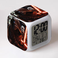 Star Wars Alarm Clock Digital LED The Force Awakers Wake Up Light Plastic - Lusy Store