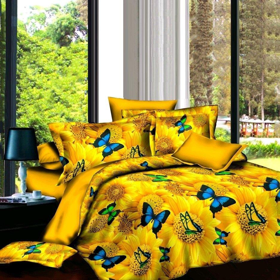 Sunflower Bedding Yellow Bedding Sets Duvet Cover Comforter Home Textiles - Lusy Store