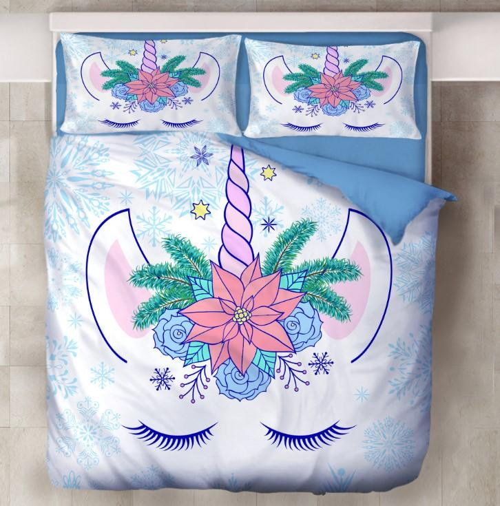 Unicorn Bedding 3D Printing Cute Bedding Sets For Girls Kids BD163 - Lusy Store