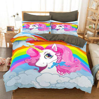 Unicorn Bedding Cross-Border Digital Printing Cute Bedroom For Kids BD1236 - Lusy Store
