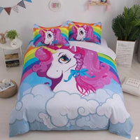 Unicorn Bedding Sets Duvet Cover Kids Bedding Sets Twin/Full/Queen/King Size - Lusy Store
