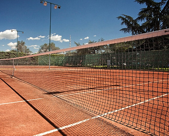 clay tennis court installation har-tru green