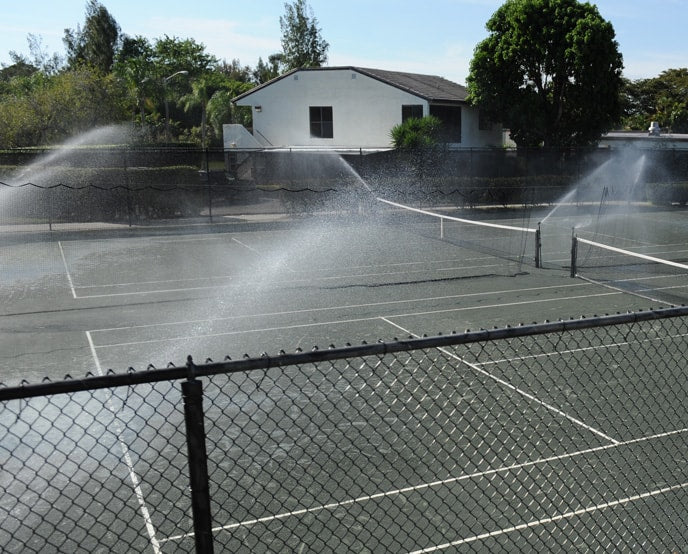 clay tennis court irrigation sprinklers hydrocourt sales service har-tru