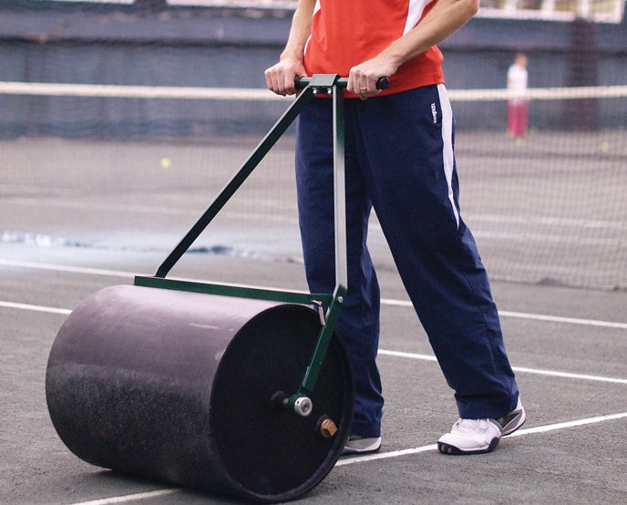 clay tennis court maintenance hand-roller har-tru