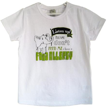 elephant 'don't feed me' food allergy awareness tee
