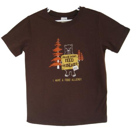 Bear Food Allergy Awareness Tee 18M, xxsm (2),