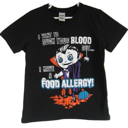 teal pumpkin and vampire food allergy awareness tee