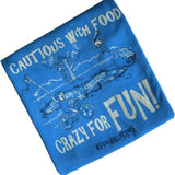 cautious with food, crazy for fun food allergy graphic